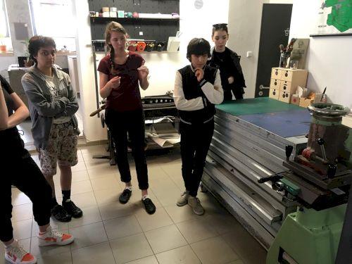 fotografie Workshop 3.V v knihařské dílně Reformát