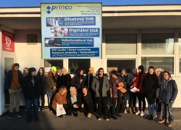 fotografie - Exkurze v tiskárně PRINCO s.r.o. – Praha