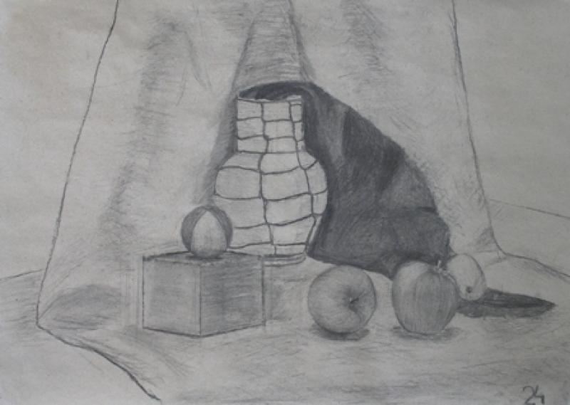 fotografie Klauzurní práce 1. a 2. r. 2012/2013: Kresba