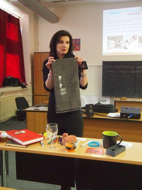 fotografie Přednáška na téma Technologie tisku a potisku reklamních předmětů pro 3 ročník