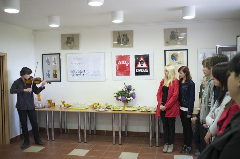 fotografie Výstava prací studentů v Modrém klíči 2012/2013