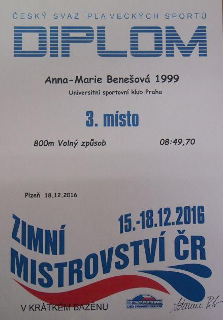 fotografie Sportovní úspěchy studentky 2.MV Anny-Marie Benešové