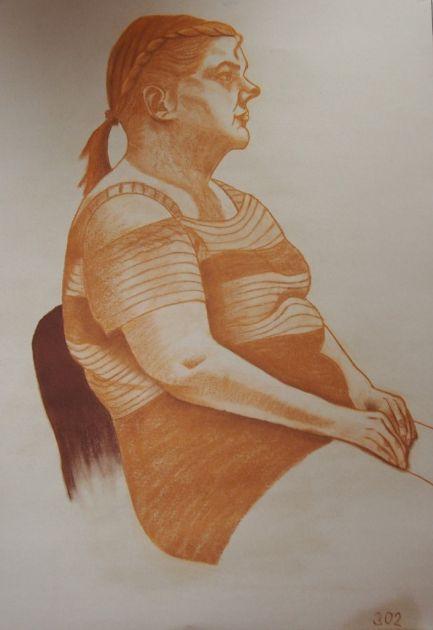 fotografie Výběr klauzurních prací 3. ročník - Figurální kreslení - vyučující ak. mal. Mudrová, ak. mal. Lockerová - 1. pololetí 2017-2018