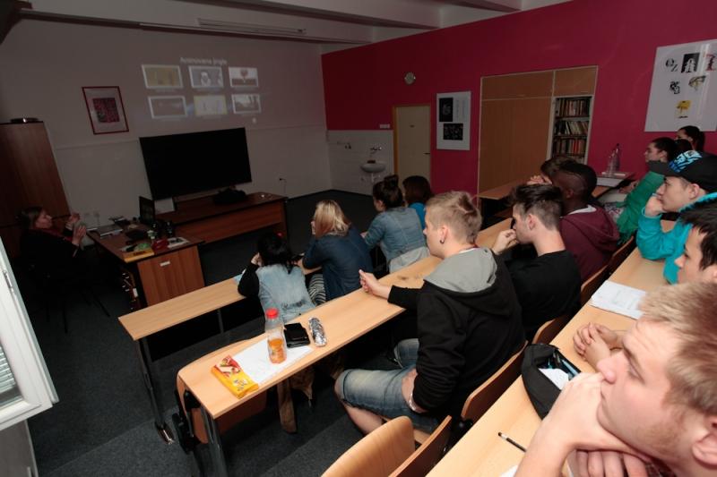 fotografie Barbora Dlouhá - přednáška na téma: animace, 2. ročník 2012/2013
