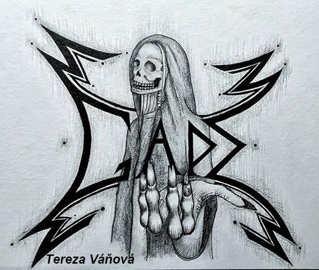 fotografie Školní rok: 2020–2021 1.ročník Počítačová grafika - metal logo vyučující Lindaurová
