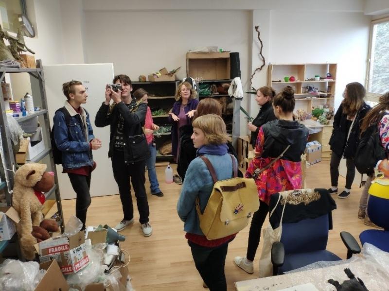 fotografie Odborná exkurze do animačních ateliérů na Barrandově