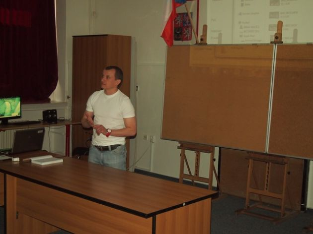 fotografie Odborná přednáška na téma Činnost trenéra, 3. ročník